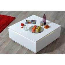 Coffee Tables With Led Lights Orde Contemporary High Gloss Coffee Table With Led Lights