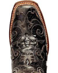 corral vintage black python inlay cowgirl boots square toe