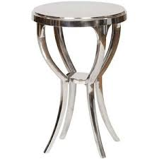 Silver Accent Table with Brenna Side Table Silver Standard Side Tables Polyvore