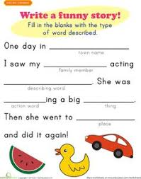fill in a funny story 5 funny stories worksheets and funny
