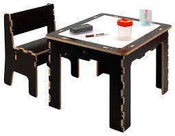 anatex flip top dry erase and chalk kids table with bench dark