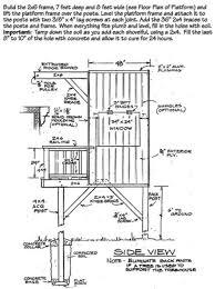 A Frame Blueprints A Frame Treehouse Outdoor Life