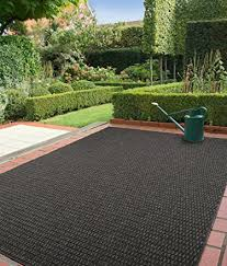 benuta tappeti benuta tappeto moderno per esterni grace plain nero 80纓150 cm