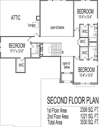 4 bedroom house plans 2 story with bat home deco plans