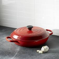 le creuset signature 3 75 qt cerise red everyday pan crate