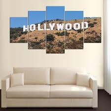 hollywood sign 5 panel canvas wall art home decor u2013 decal labs
