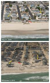 Map Of New Jersey Shore Pre And Post Storm Photo Comparisons For New Jersey Hurricane
