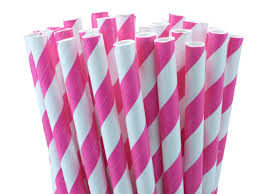 paper straws 24 pink paper straws striped paper straws for your
