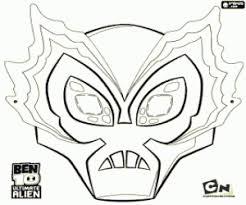 big chill masker ben 10 ultimate alien kleurplaat party