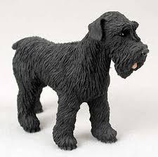 schnauzer painted figurine statue black uncropped