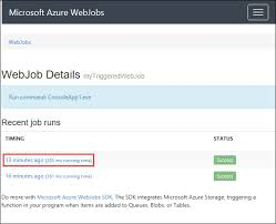 How To Make A Basic Resume For A Job by Run Background Tasks With Webjobs In Azure App Service Microsoft
