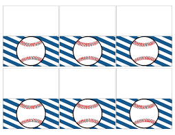 baseball place card holders free printable paper trail design