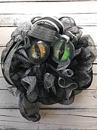 halloween wreath halloween door wreath halloween cat eyes wreath