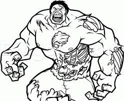 zombie coloring pages hulk coloring4free coloring4free com
