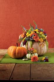 White Ceramic Pumpkin Centerpiece by Pumpkin Ideas For Your Front Door Southern Living