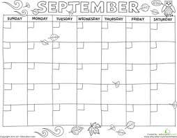 create a calendar september worksheets printable calendars and