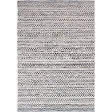 Stripe Indoor Outdoor Rug Orian Rugs Isle Sky Gray 5 Ft 1 In X 7 Ft 6 In Stripes Indoor