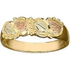 80s wedding band black gold wedding rings vintage 80s black gold