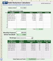 Spreadsheet For Paying Debt Use Snowball Method Spreadsheet To Pay Debts Consumerist