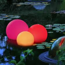 Floating Solar Pond Lights - velda floating solar light medium 25cm solar lighting solar