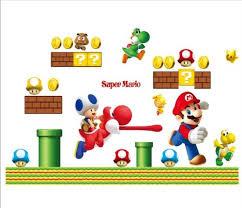 Super Mario Bedroom Decor Super Mario Bros Nursery Wall Sticker Decor Boys Bedroom Baby Room