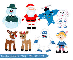 Rudolph The Red Nosed Reindeer Christmas Decorations Rudolph The Red Nosed Reindeer Clipart By Sandydigitalart On Etsy