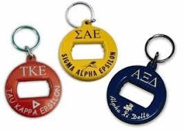 custom greek letter key chains greek gear