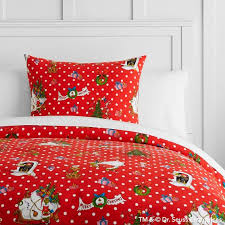 Red Duvet Set Grinch Flannel Dot Duvet Cover Sham Pbteen