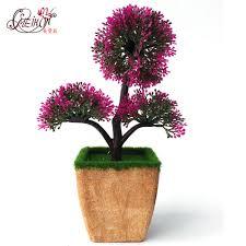 artificial plants plastic flower bonsai fake flower simulation