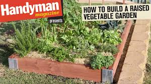 how to build a raised vegetable garden youtube
