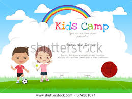 colorful kids summer camp poster banner stock vector 579819841