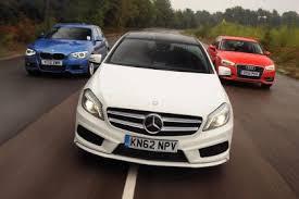audi a3 vs mercedes a class comparison bmw 125i m sport vs audi a3 1 8 tfsi vs mercedes