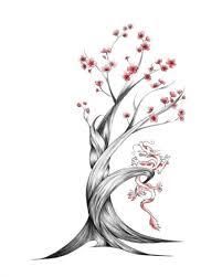 cherry blossom design on back for tattoomagz