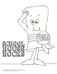 house rocks coloring sheet doodles ave schoolhouse rock