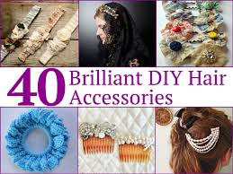 40 brilliant diy hair accessories