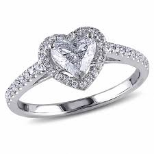 heart shaped rings images 1 ct t w heart shaped diamond frame ring in 14k white gold jpg