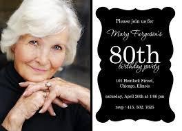 80th birthday party invitation sayings free invitations ideas