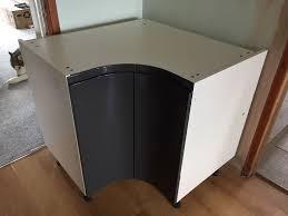 wickes kitchen sofia graphite 925mm curved corner base unit in