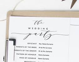 Wedding Program Templates Word Program Template Etsy