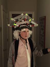 doc brown mind reading helmet from back to the future playing