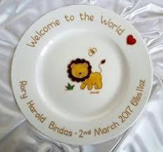 birth plate keepsake unicorn naming day gift unicorn baby keepsake plate gift for