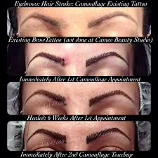 hair stroke feathering eyebrow tattoo immediately after initial