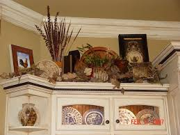 Best Kitchen Ledge Decor Images On Pinterest Above Cabinets - Kitchen decor above cabinets