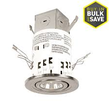 utilitech 3 inch recessed lighting shop utilitech nickel standard remodel recessed light kit fits