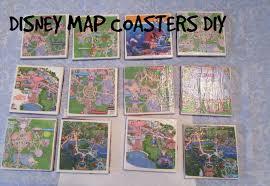 Disney Map Disney Map Coasters Diy Youtube