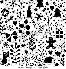black and white christmas wrapping paper merry christmas seamless pattern black white stock vector