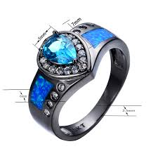 engagement rings with blue stones blue opal ring light blue