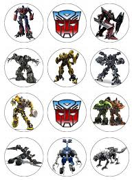 transformers cake toppers transformers edible cupcake toppers 12 transformers edible images