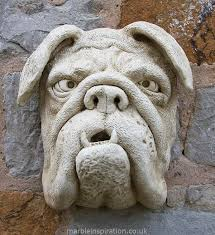 bulldog marble wall decoration garden wall plaques animal