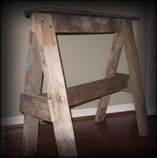 Diy Sawhorse Desk by Rustic Pallet Wood Sawhorse Diy Scavenger Chic